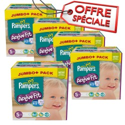 Pampers - 736 Couches Active Fit taille 5 sur Les Couches