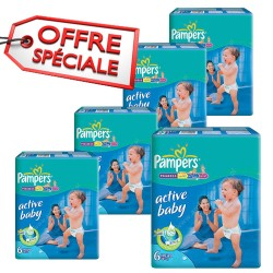 Pampers - 648 Couches Baby Dry taille 6 sur Les Couches