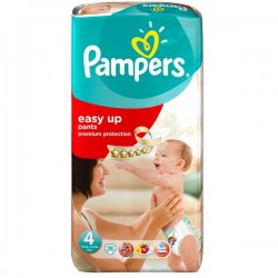 Pampers - 28 Couches Easy Up taille 4 sur Les Couches