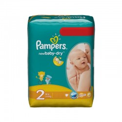 Pampers - Paquet 68 Couches New Baby Dry taille 2