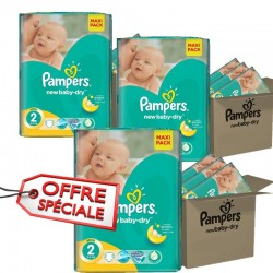 Pampers - 952 Couches New Baby Dry taille 2