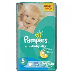 Pampers - 28 Couches Active Baby Dry taille 5 sur Les Couches