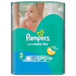Pampers - 74 Couches Active Baby Dry taille 3