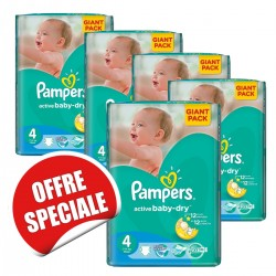 Pampers - 912 Couches Active Baby Dry taille 4 sur Les Couches