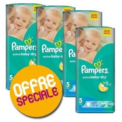Pampers - 252 Couches Active Baby Dry taille 5 sur Les Couches