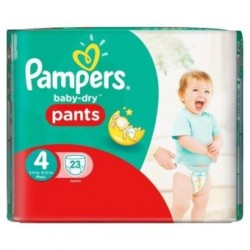 Pampers - 23 Couches Baby Dry Pants taille 4 sur Les Couches