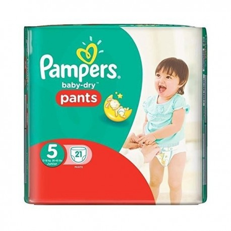 Pampers - 21 Couches Baby Dry Pants taille 5 sur Les Couches