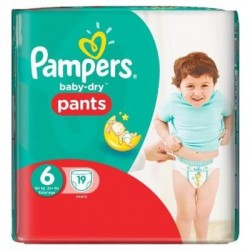 Pampers - 19 Couches Baby Dry Pants taille 6