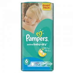 Pampers - 42 Couches Active Baby Dry taille 6