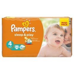 Pampers - 50 Couches Sleep & Play taille 4 sur Les Couches