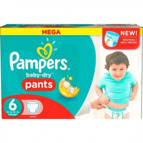 190 couches pampers baby dry pants taille 6 pas cher sur les couches - Couches pampers pas cher ...