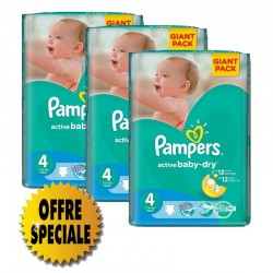 Pampers - 522 Couches Active Baby Dry taille 4