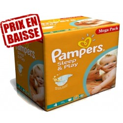 Pampers - 14 Couches Sleep & Play taille 4 sur Les Couches