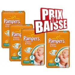Pampers - 162 Couches Sleep & Play taille 2 sur Les Couches