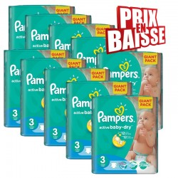 Pampers - 592 Couches Active Baby Dry taille 3