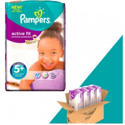Pampers - 348 Couches Active Fit taille 5+ sur Les Couches