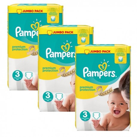198 couches pampers premium protection taille 3 pas cher sur les couches - Couche pampers taille 3 pas cher ...