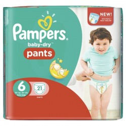 Pampers - 21 Couches Baby Dry Pants 6 sur Les Couches