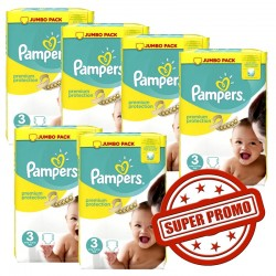 Pampers - 435 Couches Premium Protection 3 sur Les Couches