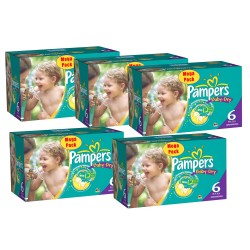Pampers - 304 Couches Baby Dry taille 6+ sur Les Couches