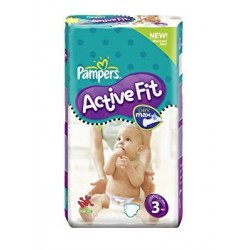 Pampers - 120 Couches Active Fit taille 3 sur Les Couches