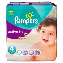Pampers - 82 Couches Active Fit taille 4 sur Les Couches