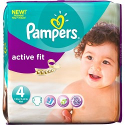 Pampers - 78 Couches Active Fit taille 4 sur Les Couches