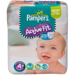 Pampers - 50 Couches Active Fit taille 4+ sur Les Couches