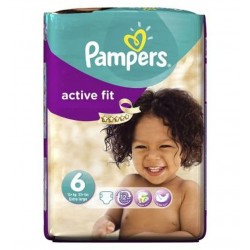 Pampers - 31 Couches Active Fit taille 6 sur Les Couches