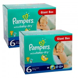 Giga Pack 288 couches Pampers Active Baby Dry sur Les Couches