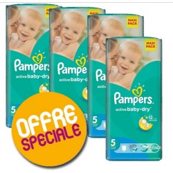Pampers - Maxi Giga Pack 232 Couches Active Baby Dry 5