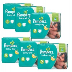 Pampers - Giga pack 301 Couches Baby Dry 5+ sur Les Couches