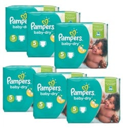 Maxi Giga Pack 301 Couches Pampers Baby Dry sur Les Couches