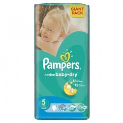Pampers -  Pack 42 Couches Active Baby Dry taille 5 sur Les Couches