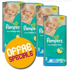 Pampers - Maxi Pack 504 Couches Active Baby Dry taille 5 sur Les Couches