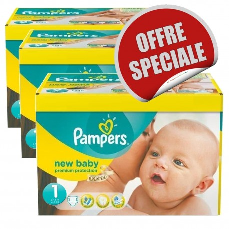 Pampers -  Giga Pack 516 Couches New Baby Dry taille 1 sur Les Couches