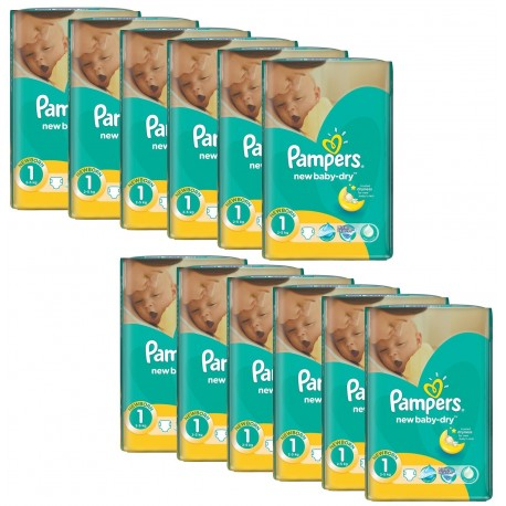 Pampers - Giga Pack 860 Couches New Baby Dry taille 1 sur Les Couches