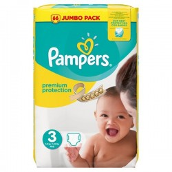 Pampers - Pack 50 Couches Premium Protection taille 3