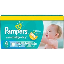 Pampers - Pack 132 Couches Active Baby Dry taille 4