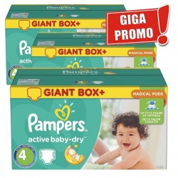 Pampers - Maxi Pack 396 Couches Active Baby Dry taille 4