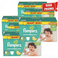Pampers - Giga Pack 792 Couches Active Baby Dry taille 4 sur Les Couches