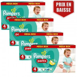 Pampers - Giga Pack 470 Couches Baby Dry Pants taille 4 sur Les Couches