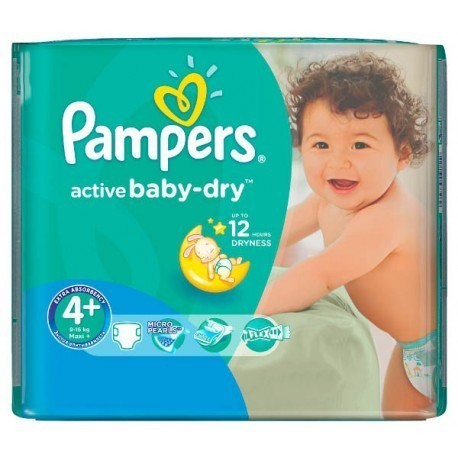 18 Couches Pampers Active Baby Dry Taille 4 Moins Cher Sur Les Couches
