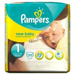 Pampers - Pack 23 Couches New Baby taille 1 sur Les Couches