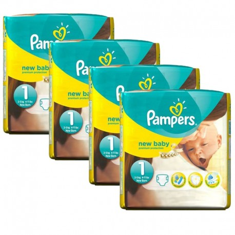 Pampers - maxi pack 115 Couches New Baby taille 1 sur Les Couches
