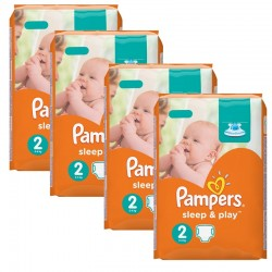 Pampers - Giga pack 204 Couches Sleep & Play taille 2