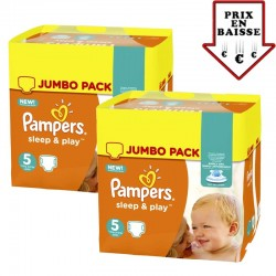 Pampers - Maxi Giga pack 476 Couches Sleep & Play taille 2