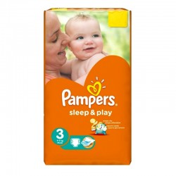 Pampers - Pack 16 Couches Sleep & Play taille 3 sur Les Couches