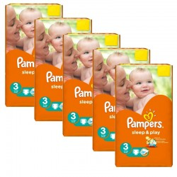 Pampers - pack 112 Couches Sleep & Play taille 3 sur Les Couches