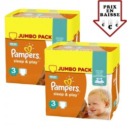 Pampers - giga pack 448 Couches Sleep & Play taille 3